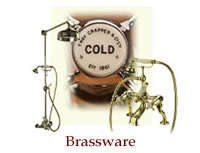 Taps, showers, towel rails and other brassware from Thomas Crapper & Co.